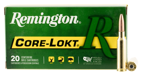Remington Ammunition R65CR1 Core-Lokt 6.5 Creedmoor 140 GR Pointed Soft Point 20 Bx/ 10 Cs
