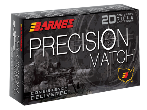 Barnes Bullets 30166 Precision Match 6.5 Creedmoor 140 GR Open Tip Match BT 20 Bx/ 10 Cs