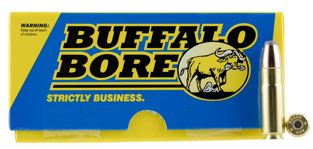 Buffalo Bore Ammunition 47C/20 Hunting and Sniping 458 SOCOM 350 GR Jacketed Flat Nose 20 Bx/ 12 Cs