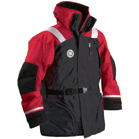 First Watch AC-1100 Flotation Coat - Red/Black - Small