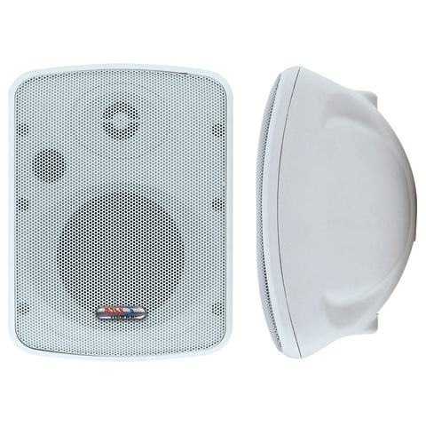 Boss Audio MR12 Marine 2-Way Box Speaker - 100W - (Pair) White