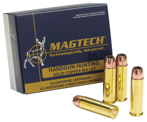 Magtech 500A Sport Shooting 500 Smith & Wesson Magnum 400 GR Semi-Jacketed Soft Point 20 Bx/ 25 Cs