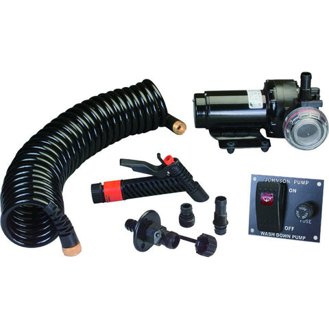 Johnson Pump 5.2GPM Aqua Jet Wash Down Pump Kit w/Hose - 24V