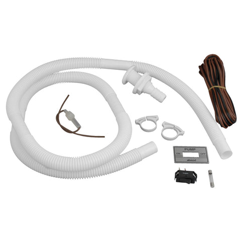 "Attwood Bilge Pump Installation Kit w/Switch, 3/4"" Hose Clamps & 20' Wire Fuse Holder"