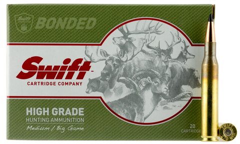 Swift 10036 Medium/Big Game Scirocco II 270 Winchester 130 GR Spitzer Boat Tail 20 Bx/ 10 Cs