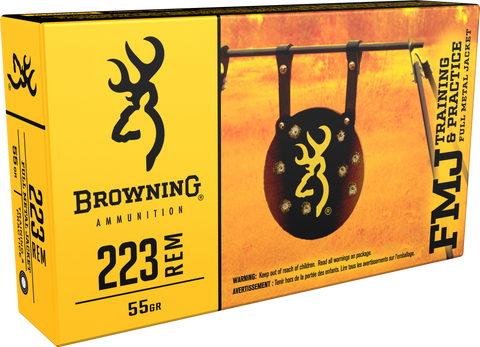 Browning Ammo B192802232 BPT Performance 223 Remington/5.56 NATO 55 GR Full Metal Jacket 20 Bx/ 50 Cs