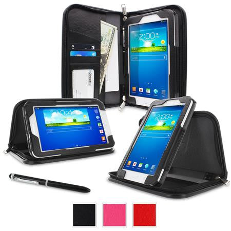 rooCASE - Executive Portfolio Leather Case for Samsung Galaxy Tab 3 Lite 7.0, Black