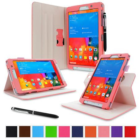 rooCASE - Dual View Folio Case for Samsung Galaxy Tab Pro 8.4, Pink