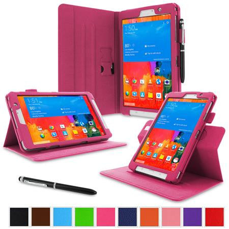 rooCASE - Dual View Folio Case for Samsung Galaxy Tab Pro 8.4, Magenta