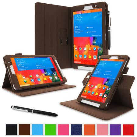 rooCASE - Dual View Folio Case for Samsung Galaxy Tab Pro 8.4, Brown
