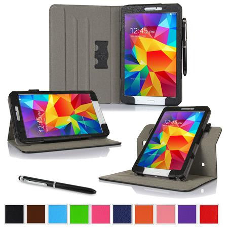 rooCASE - Dual View Folio Case Cover for Samsung Galaxy Tab 4 8.0, Black