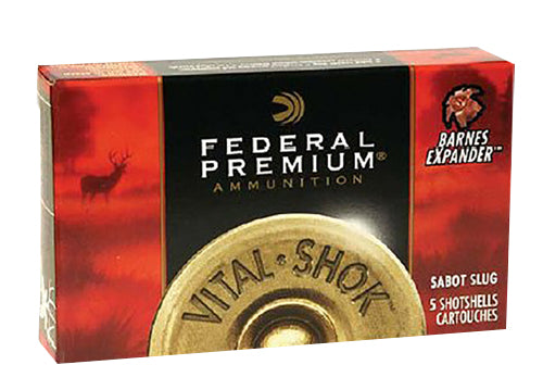"Federal F127SS2 Power-Shok 12 Gauge 2.75"" 1 oz Sabot Slug Shot 5 Bx/ 50 Cs"