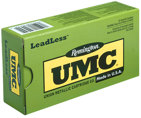 Remington Ammo LL9MM9 UMC 9mm Flat Nose Enclosed Base 147 GR 50Box/10Case