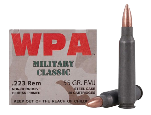 Wolf MC22355FMJ Military Classic 223 Remington 55 GR FMJ 500 Bx/ 1 Cs - 500 Rounds
