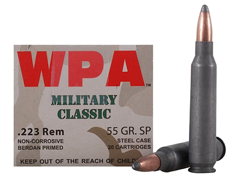 Wolf MC22355SP Military Classic 223 Remington 55 GR Soft Point 500 Bx/ 1 Cs - 500 Rounds