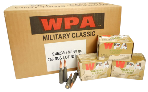 Wolf MC545BFMJ Military Classic 5.45x39mm Full Metal Jacket 60 GR 750 Rds