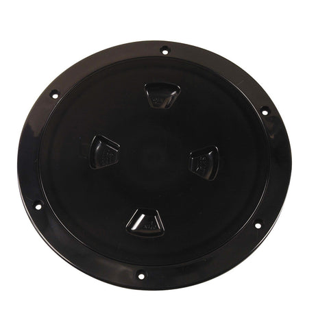 "Beckson 8"" Smooth Center Screw-Out Deck Plate - Black"
