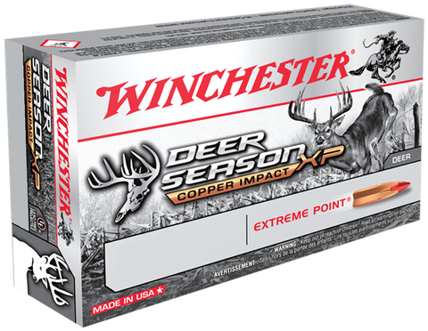 Winchester Ammo X308DSLF Deer Season XP 308 Winchester/7.62 NATO 150 GR Extreme Point Lead Free 20 Bx/ 10 Cs