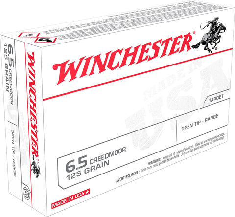 Winchester Ammo USA65CM Best Value FMJ 6.5 Creedmoor 125 GR Full Metal Jacket 20 Bx/10 CS