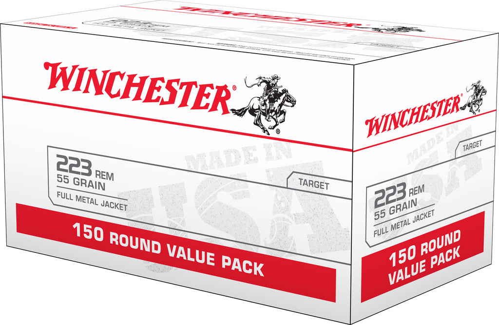 Winchester Ammo USA223L1 Best Value 223 Remington/5.56 NATO 55 GR Full Metal Jacket 150 Bx/ 4 Cs - 150 Rounds