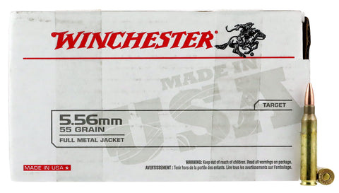 Winchester Ammo USA556L1 USA Value Pack 5.56 NATO 55 GR Full Metal Jacket 150 Bx/ 4 Cs - 150 Rounds