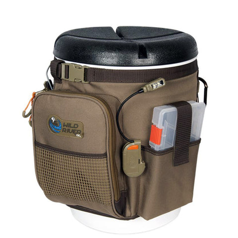 Wild River RIGGER 5 Gallon Bucket Organizer w/Lights, Plier Holder & Lanyard, 2 PT3500 Trays & Bucket w/Seat