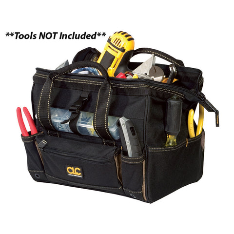 "CLC 1533 12"" Tool Bag w/ Top-Side Plastic Parts Tray"