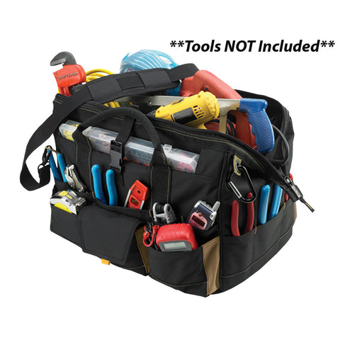 "CLC 1535 18"" Tool Bag w/ Top-Side Plastic Parts Tray"