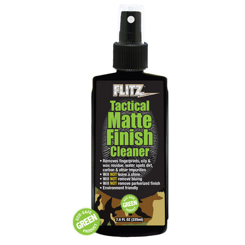 Flitz Tactical Matte Finish Cleaner - 7.6oz Spray