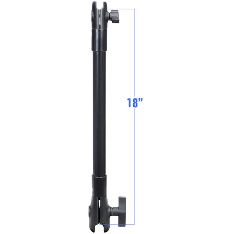 "RAM Mount 18"" Long Extension Pole w/1"" and 1.5"" Single Open Sockets"