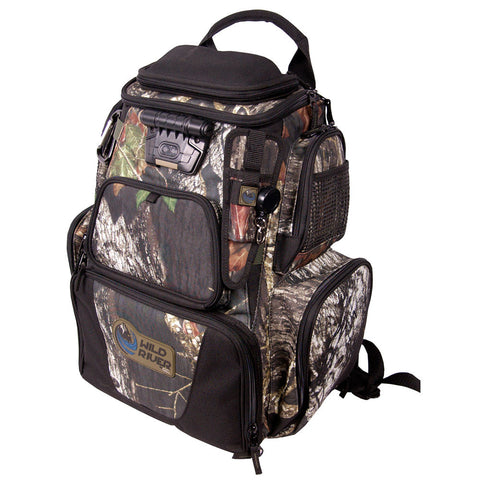 Wild River NOMAD Mossy Oak Tackle Tek Lighted Backpack w/o Trays