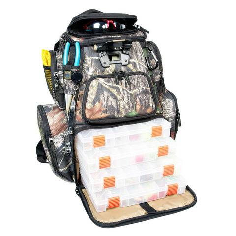 Wild River NOMAD Mossy Oak Tackle Tek Lighted Backpack w/4 PT3600 Trays