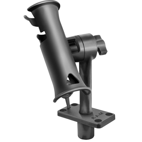 "RAM Mount RAM Tube Jr. Fishing Rod Holder w/Standard 6"" Length Post Spline & Flush Mounting Base"