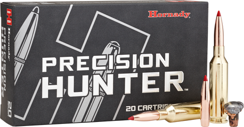 Hornady 81621 Precision Hunter 6.5 Precision Rifle Cartridge (PRC) 143 GR ELD-X 20 Bx/ 10 Cs