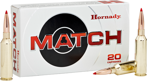 Hornady 81620 Match 6.5 Precision Rifle Cartridge (PRC) 147 GR ELD-Match 20 Bx/ 10 Cs
