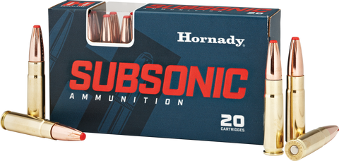 Hornady 80877 Subsonic 300 AAC Blackout/Whisper (7.62x35mm) 190 GR Sub-X 20 Bx/ 10 Cs