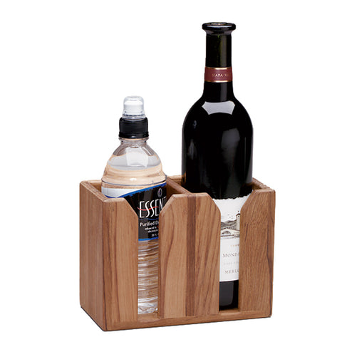 Whitecap Teak Two-Bottle Rack