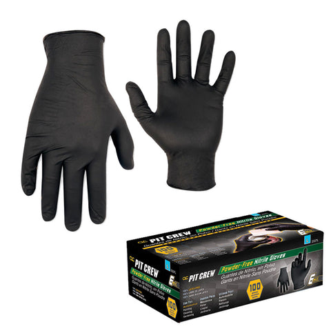 CLC Black Nitrile Disposable Gloves - Box Of 100 - Medium