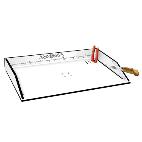"Magma Bait/Filet Mate Serving/Cutting Table - 20"" White/Black"