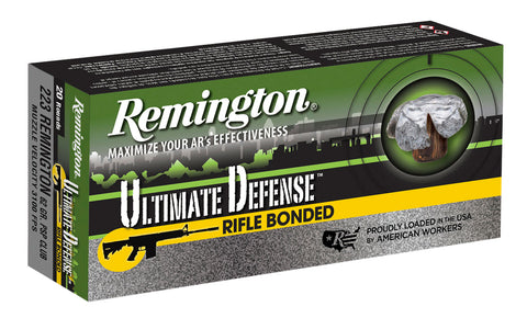 Remington Ammunition RD223R4 Ultimate Defense 223 Remington/5.56 NATO 62 GR Core-Lokt Ultra Bonded PSP 20 Bx/ 10 Cs