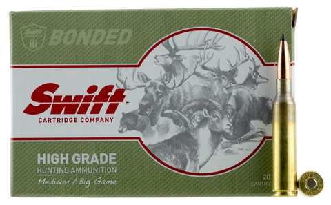 Swift 10110 Medium/Big Game 6.5x55 Swedish 130 GR Spitzer 20 Bx/ 10 Cs