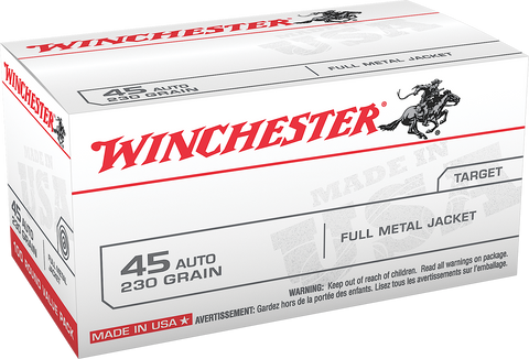 Winchester Ammo USA45AVP Best Value 45 Automatic Colt Pistol (ACP) 230 GR Full Metal Jacket 100 Bx/5 Cs - 100 Rounds