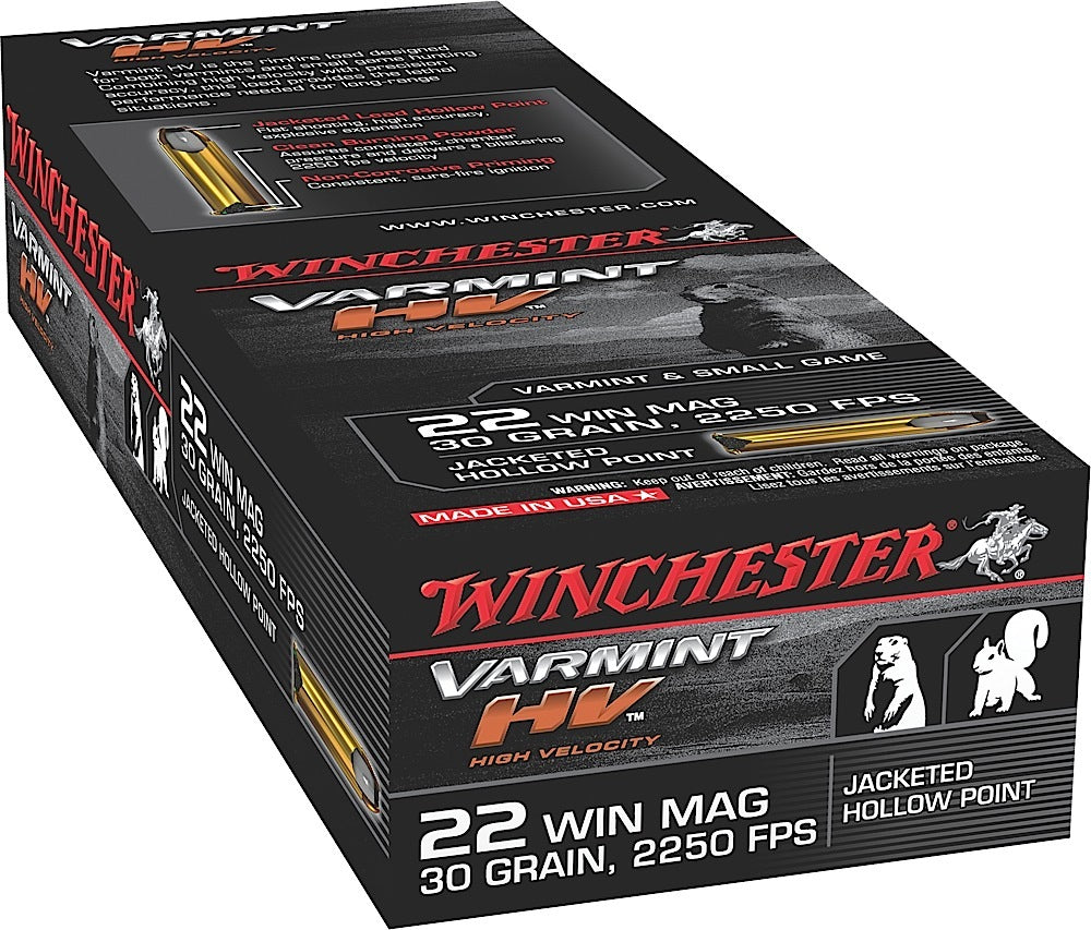 Winchester Ammo S22M2 Supreme 22 Winchester Magnum Rimfire (WMR) 30 GR Jacketed Hollow Point 50 Bx/40 Cs