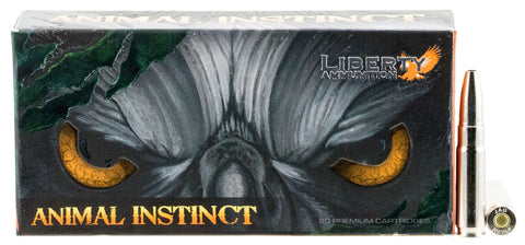 Liberty Ammunition LAHAC300044 Animal Instinct 300 AAC Blackout/Whisper (7.62x35mm) 96 GR Copper Hollow Point 20 Bx/ 10 Cs