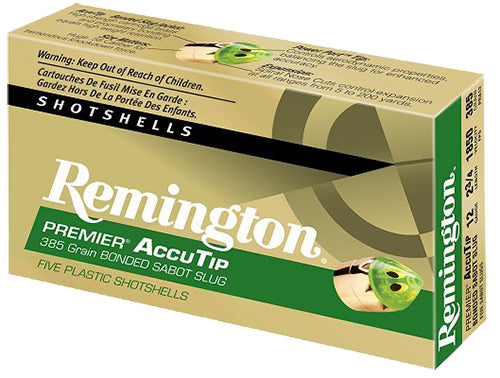 "Remington Ammunition PRA12M Premier 12 Gauge 3"" 385 GR Slug Shot 5 Bx/ 20 Cs"