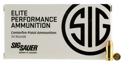 Sig Sauer E40SW150 V-Crown 40 Smith & Wesson (S&W) 165 GR Jacketed Hollow Point 50 Bx/ 20 Cs