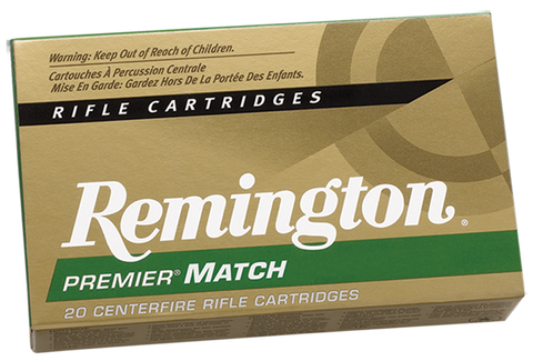 Remington Ammunition RM223R3 Premier Match 223 Remington 77 GR Hollow Point Boat Tail 20 Bx/ 10 Cs
