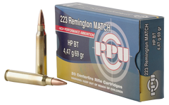 PPU PPM2231 Match 223 Remington/5.56 NATO 69 GR Hollow Point Boat Tail 20 Bx/ 50 Cs