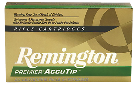 Remington Ammunition PRA2250RB Premier 22-250 Rem AccuTip 50 GR 20Box/10Case