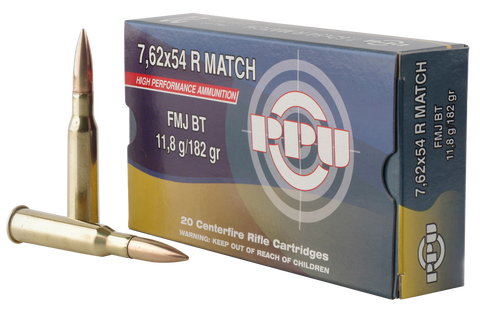 PPU PPM7 Match 7.62x54mmR 182 GR Full Metal Jacket 20 Bx/ 10 Cs